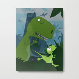 Elbert the Dinosaur Metal Print
