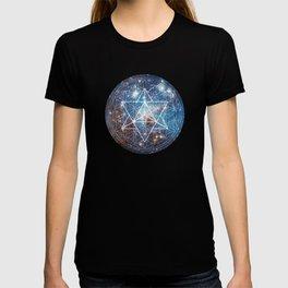 Merkaba in Flower of Life T-shirt