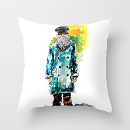 Salty Dog Throw Pillow
