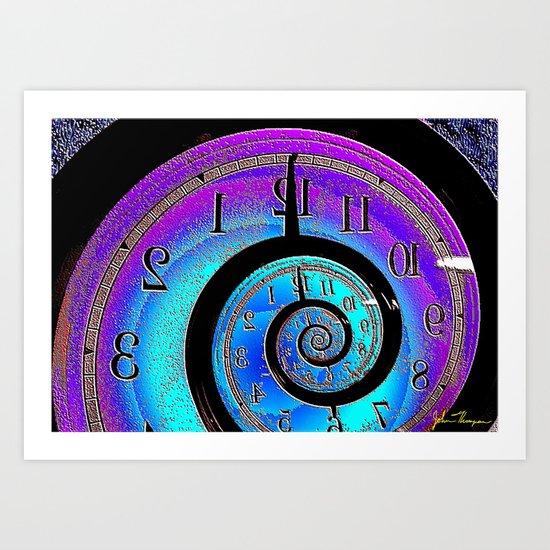 Back in time Art Print