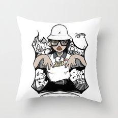 Lady Fresh. Throw Pillow