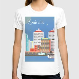 Louisville, Kentucky - Skyline Illustration by Loose Petals T-shirt