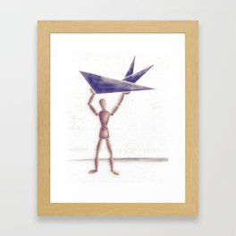 Man With Triangles  Framed Art Print