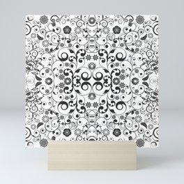 Black and white arabesques Mini Art Print