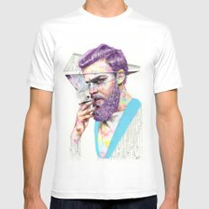 Clown on the Outside White MEDIUM Mens Fitted Tee
