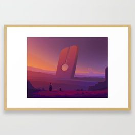 PHAZED PixelArt 7 Framed Art Print