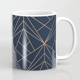 Elegant geometric copper navy blue Coffee Mug