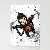 borderlands Stationery Cards featuring Borderlands 2 - Chibi Gunzy! by Emme Gray