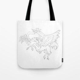 Pegasus And Angel Tote Bag