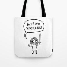 No Spoilers Tote Bag