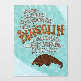 Pangolin Canvas Print