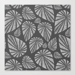 Charcoal Teardrop Pattern Canvas Print