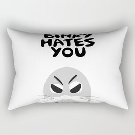 Binky Hates You Rectangular Pillow