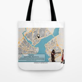 Atlas of Inspiring Protests; ISTANBUL Tote Bag