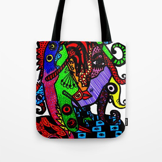 Lizard Princess Tote Bag