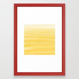 fruity yellow Framed Art Print
