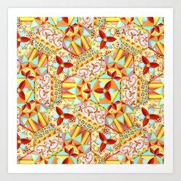 Gypsy Caravan Candy Blossom Art Print