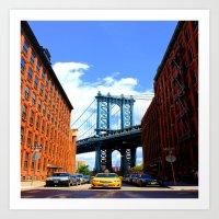 bridge Art Prints featuring Bridge by Brown Eyed Lady