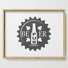 Pub Craft Beer Bottles style Fashion Modern Design Print! Serving Tray