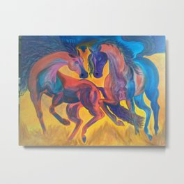 Danceing horses Metal Print