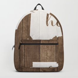 Connecticut is Home - White on Wood Backpack