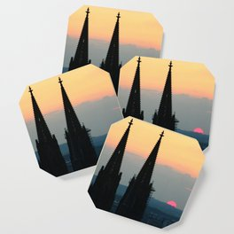 Cologne Cathedral Sunset Coaster