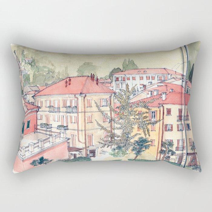 Baveno, Lake Maggiore, Northern Italy. Rectangular Pillow