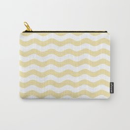 Wavy Stripes (Vanilla/White) Carry-All Pouch