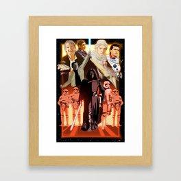 The Force Awakens in MS PAINT Framed Art Print