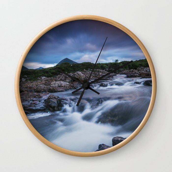 The River at Sligachan Wall Clock