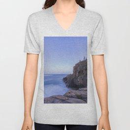 Blue hour at the cliffs Unisex V-Neck