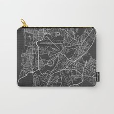 Mumbai Map, India - Gray Carry-All Pouch
