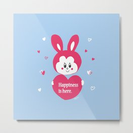 Pacifica bunny and lot of hearts Metal Print