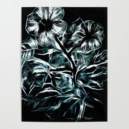 Flowers In Green Poster