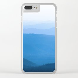 Blue Smoky Mountains Clear iPhone Case