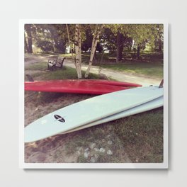 Stand Up Surfboards Water Sport Color Photography Metal Print