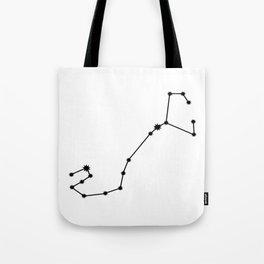 Scorpio Star Sign Black & White Tote Bag