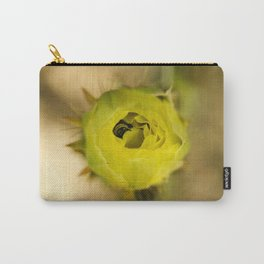 Englemann's Prickly Pear With A Hiding Bee Carry-All Pouch