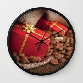 III - Bag with treats, for traditional Dutch holiday 'Sinterklaas' Wall Clock