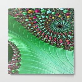 Carnival Green Metal Print