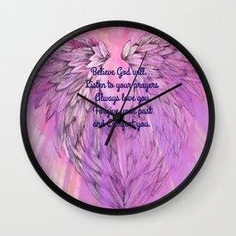 Believe God Will... Wall Clock