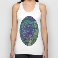 potato Tank Tops featuring Percolated Purple Potato Flower by Charma Rose