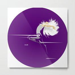 White Girl on Deep Purple Metal Print