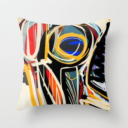 The Scream Street Art Graffiti Throw Pillow