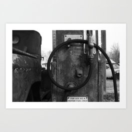 motor fuel only Art Print