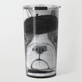 French Bulldog. (black and white version) Travel Mug