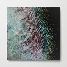 Mermaid in Abstract Metal Print
