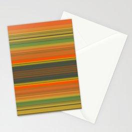 Retro Color Stripes Stationery Cards