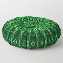 Mandala with dark and light green tones Floor Pillow