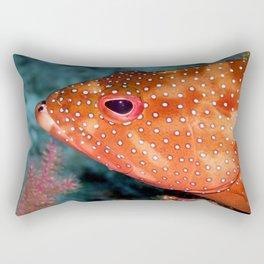 Coral Cod's Head Rectangular Pillow
